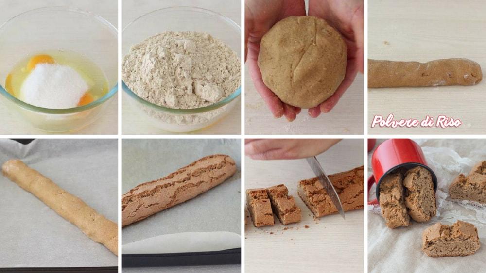 cantucci senza glutine step
