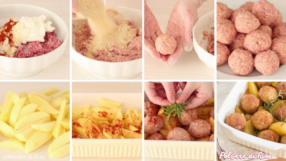 polpette e patate al forno STEP