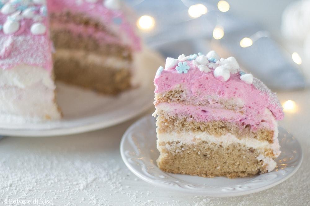 torta di compleanno fiocco di neve