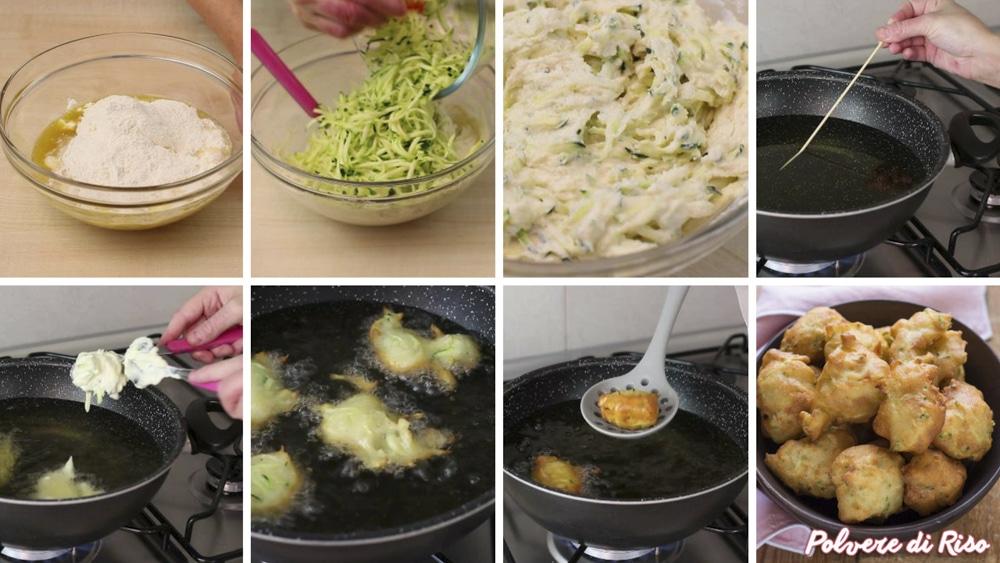 frittelle di zucchine STEP